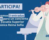 Consigue una entrada doble para un recital en la Escuela Superior de Música Reina Sofía
